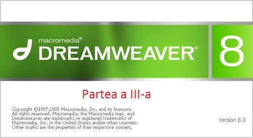 Tutoriale Dreamweaver Partea 3