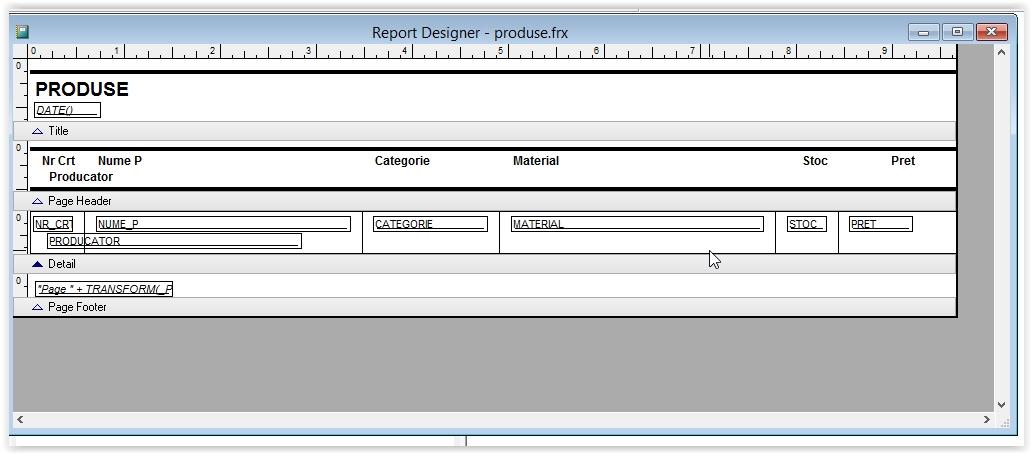 modificarea unui raport