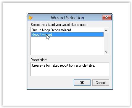 raport pentru o singura tabela